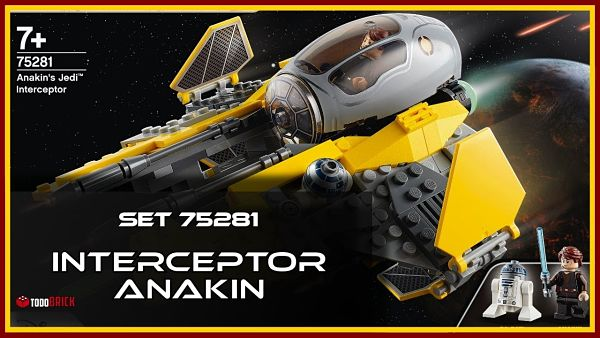 LEGO 75281 Interceptor Jedi Anakin
