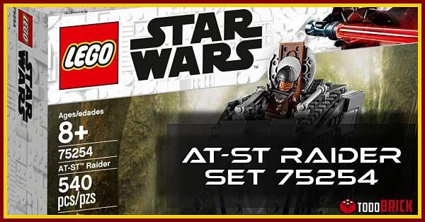 LEGO 75254 Set Star Wars caminante AT ST de la serie el mandaloriano