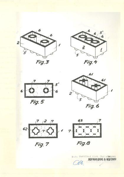 Patente original del ladrillo de LEGO