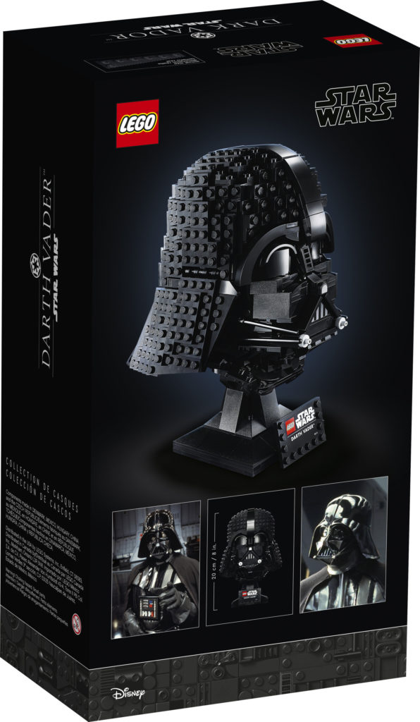 LEGO Star Wars 75304 Darth Vader Casco caja trasera