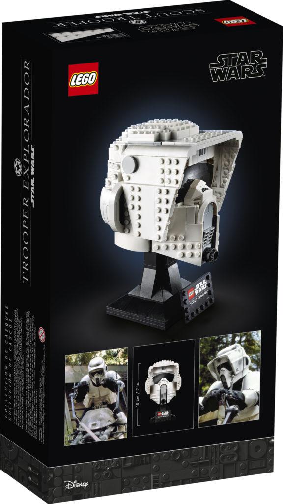 LEGO Star Wars 75305 Scout Trooper Helmet caja trasera