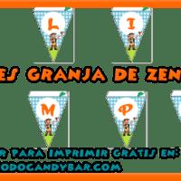 Candy Bar de La Granja de Zenon para Descargar e Imprimir Gratis