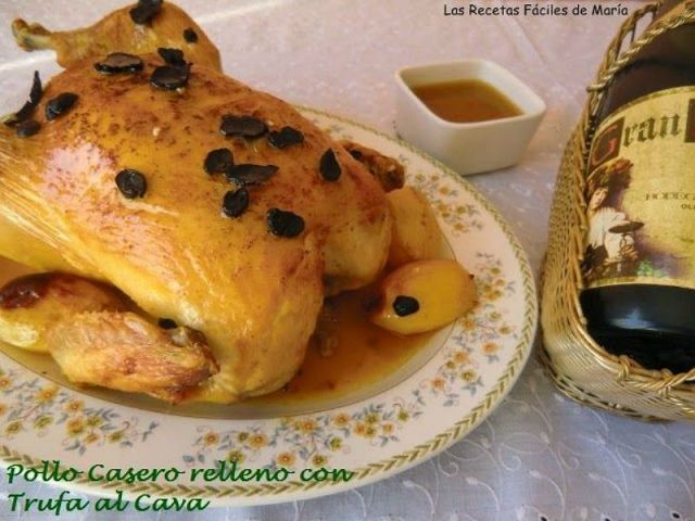 ##Pollo Casero relleno con Trufa al Cava