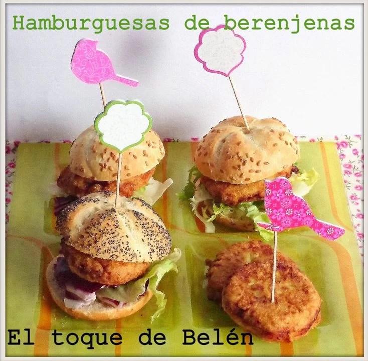Mini hamburguesas de berenjenas recopilación de sándwiches