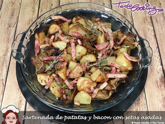 SartenadaPatatasBaconSetas1
