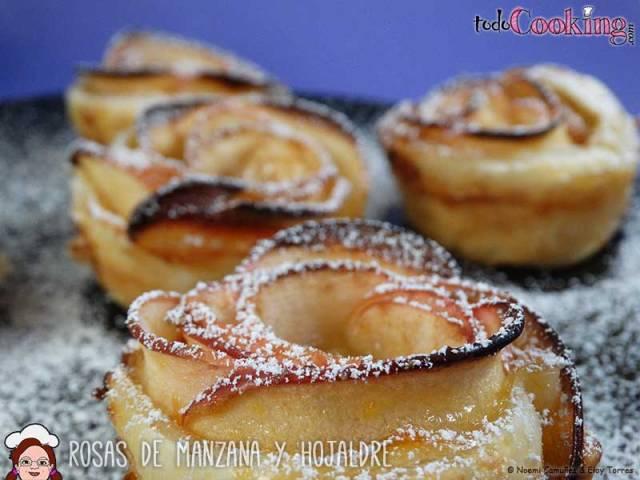 Rosas-Manzana-Hojaldre