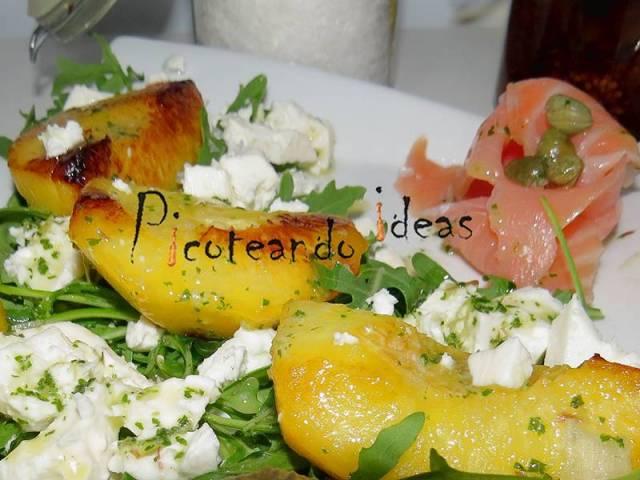 ##Ensalada-de-melocotón-a-la-plancha-con-vinagreta-hierbabuena