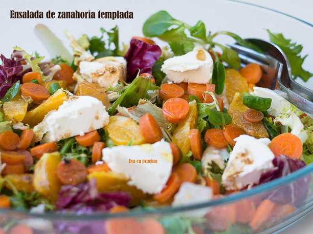 ##Ensalada de Zanahoria templada, naranja y queso