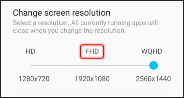 cambiar resolución de pantalla en Android