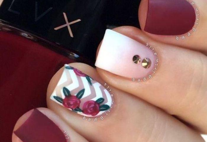 52 Imágenes De Uñas Decoradas Con Diseños De Flores Para Manos Y
