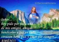 Imágenes religiosas con frases de bendición para amigos
