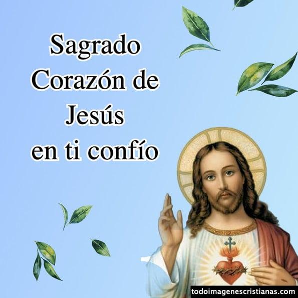 Imágenes del Sagrado Corazón de Jesús con frases