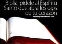 Imágenes cristianas sobre la Biblia y el Espíritu Santo