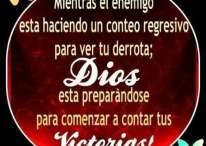 Imágenes cristianas: Tus enemigos cuentan tus derrotas; DIOS cuenta tus victorias