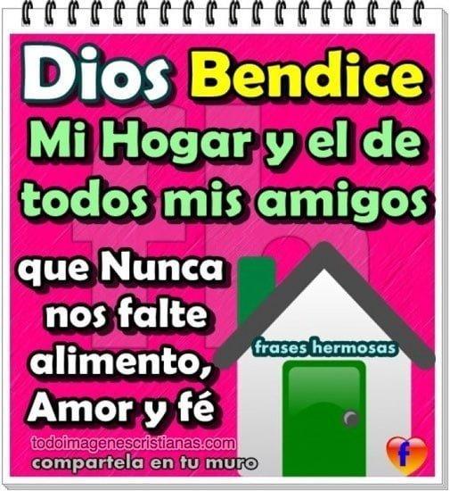 imagenes cristianas dios bendice mi hogar