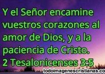 Que el Señor encamine vuestros corazones al amor de Dios