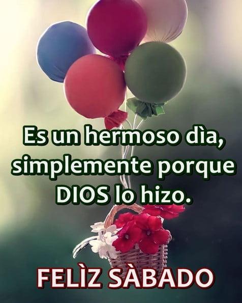 feliz sábado con dios