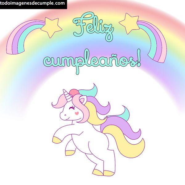 imagenes feliz cumpleanos con unicornios