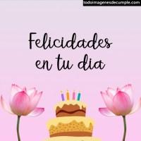Imágenes de cumpleaños con flores