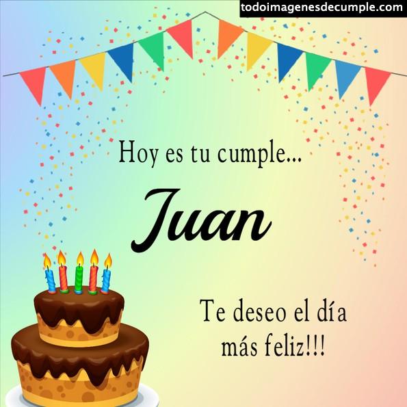 Tarjeta feliz cumple Juan