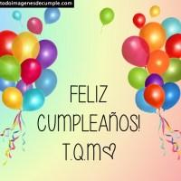 Imágenes de cumpleaños con globos de colores