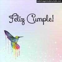 Imágenes de cumpleaños con colibrí o picaflor