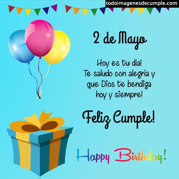 Imágenes cumpleaños Mayo