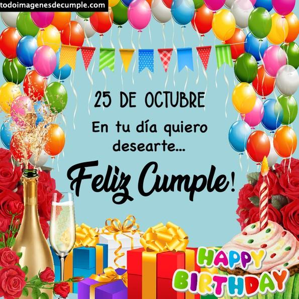 Imágenes de cumpleaños 25 de octubre