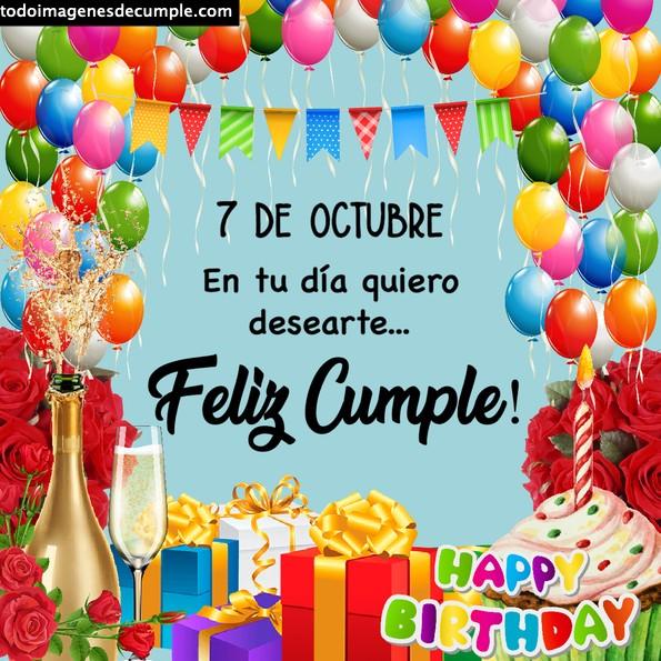 Imágenes de cumpleaños 7 de octubre