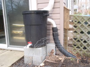 crude rain barrel