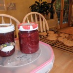 homemade strawberry jam and cookies