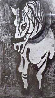 Horse / 1934 / Gouache / 29x17cm