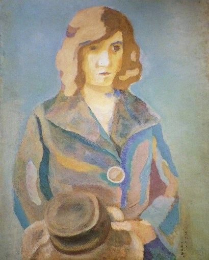 Woman who can have hat / 1923 / oil / 81×65cm