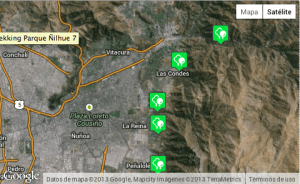 Extensión de los 5 parques de la Asociación Paque Cordillera