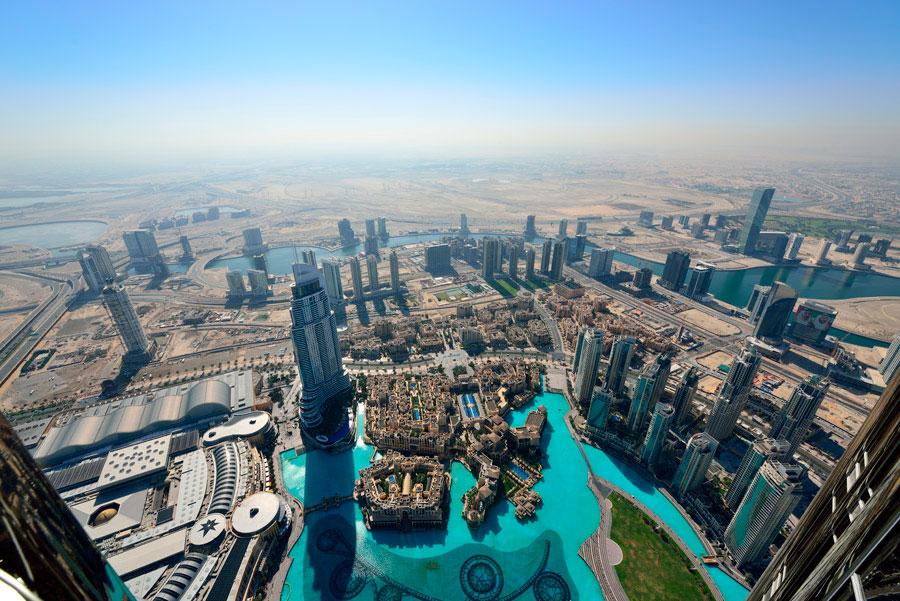 Asì es la vista desde el mirador más alto del mundo (foto: http://www.disfrutadubai.com/)