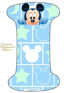 Mickey bebe abecedario letras