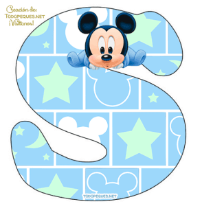 Letra s Mickey Baby Letters alphabet