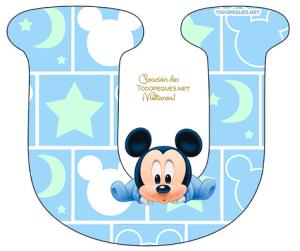 Letra u Mickey Baby Letters alphabet