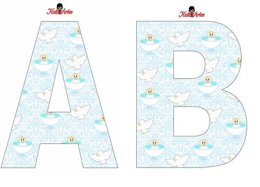 Abecedarios para Bautismo molde de letras   Todo Peques