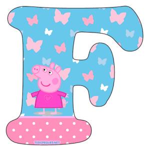 Abecedario Peppa Pig para Imprimir