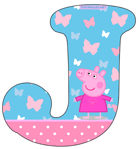 Letra J Peppa Pig Letters Alphabet Todo Peques