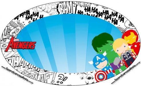 Candy bar de Avengers para Imprimir Gratis