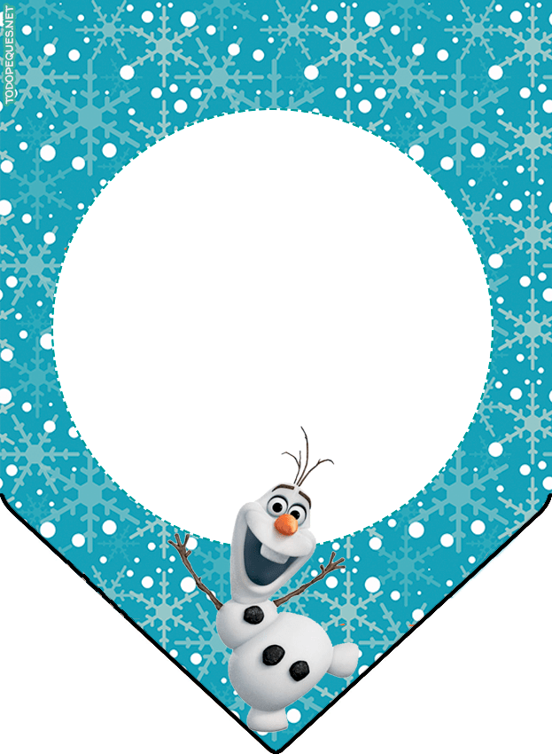 Banderines de Frozen OLAF celestes