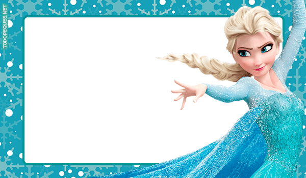 Etiquetas Elsa Frozen Tarjetas Invitaciones