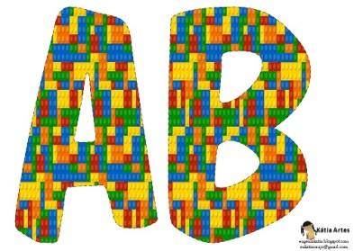 Letras Alfabeto de Lego para imprimir y decorar