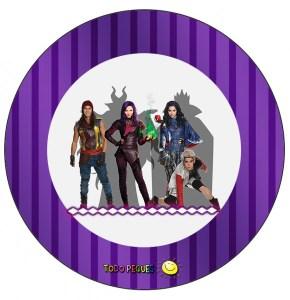 Etiquetas -Stickers- Topper de Descendientes Imprimibles gratis