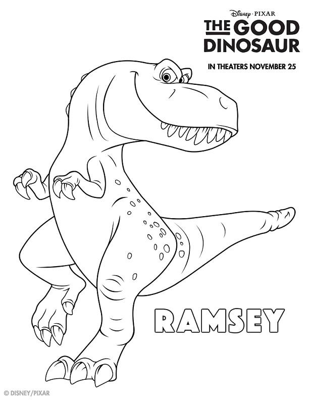 Imágenes de Un Gran Dinosaurio para pintar. Un Gran Dinosaurio para colorear imprimibles