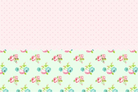 Decoración con flores Shabby Chic. Kit imprimible floral para descargar gratis