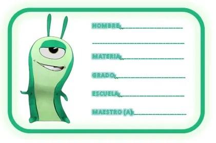 Etiquetas escolares Bajoterra 6