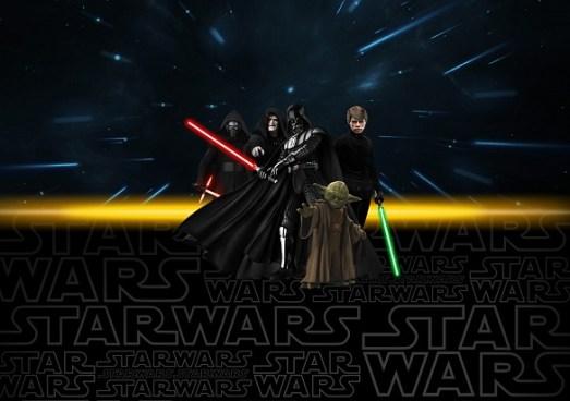 Kit imprimible de Star Wars VII para cumpleaños. Decoración Star Wars imprimibles gratis